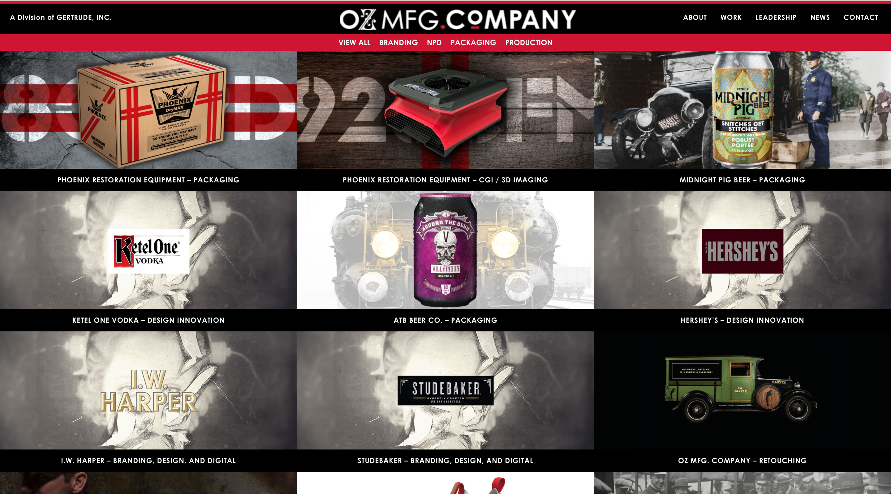 Oz Agency website