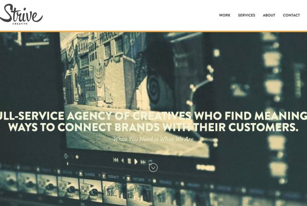 Strive Creative website